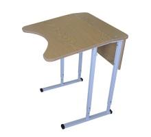 Парта школьная 1-местная с наклонной столешницей (2 сегмента)