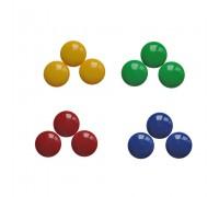 Цветные магниты, диаметр 2 см
