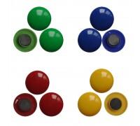 Цветные магниты, диаметр 3.5 см